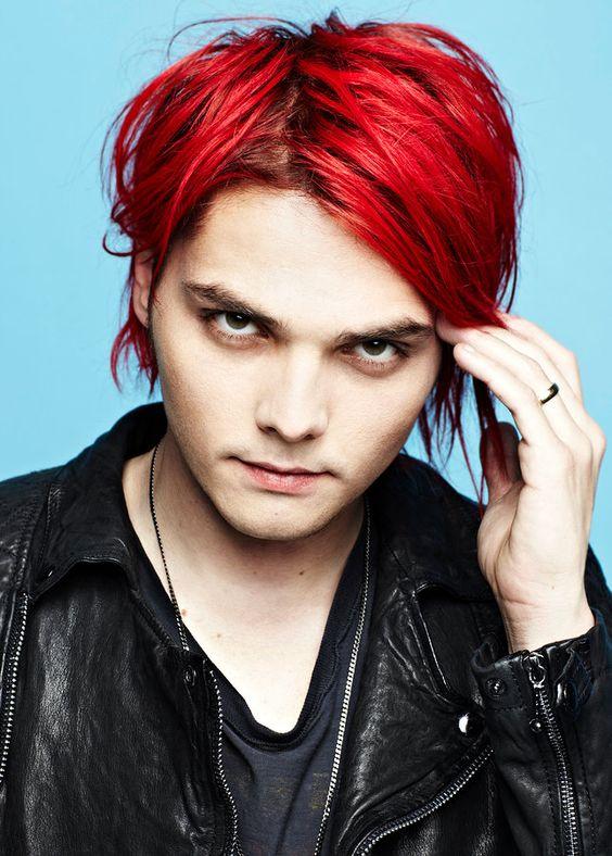 Gerard Way's hair here looks like Manic Panic's Pillarbox ...