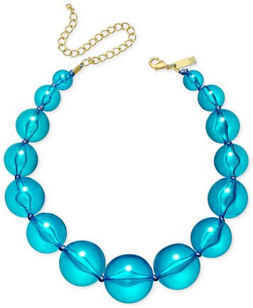 INC International Concepts Gold-Tone Graduated Acrylic Bead Collar Necklace, Only at Macy's | macys.com