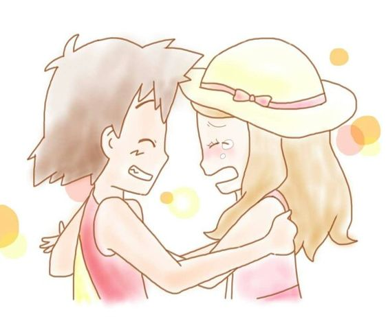 Kawaii ^.^ ♡ Little Amourshipping ^.^ ♡ Credits to whoever made this fan art