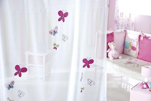 Visillo con mariposas de scenes cortinas infantiles - Cortinas infantiles nina ...
