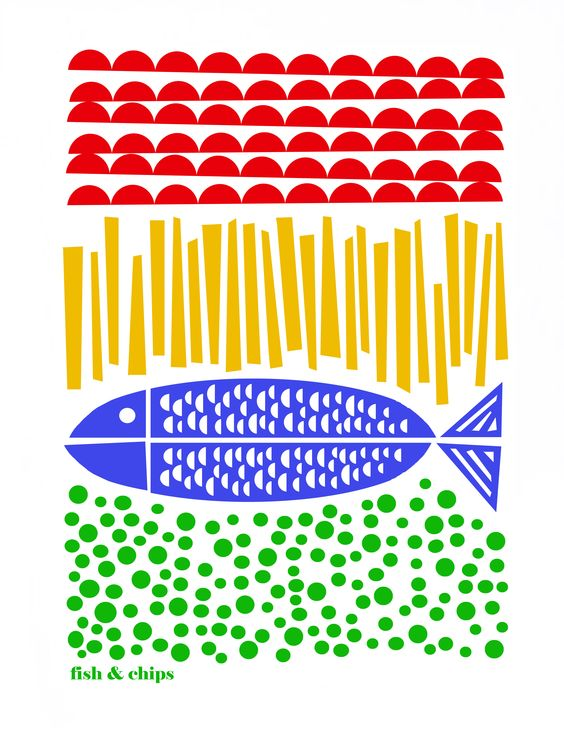 Fish and Chips - Limited Edition Print by Luzelle van der Westhuizen. £50