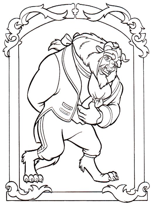 Coloring page Beauty and the Beast Beauty and the Beast on Kids-n-Fun.co.uk. On Kids-n-Fun you will always find the best coloring pages first!