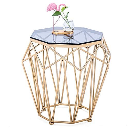 Living Room Sofa Side Table Wrought Iron Coffee Table Octagonal