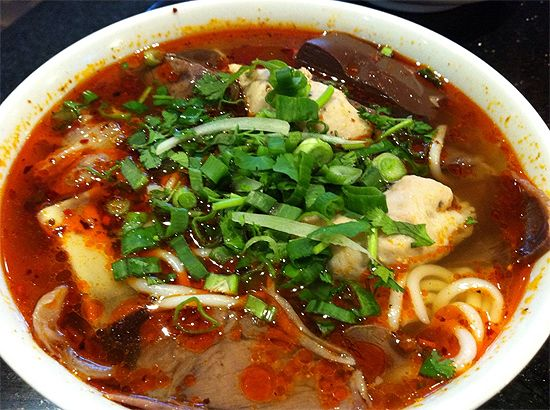 ... soup, Vietnamese food from Central Vietnam, noodle soup with beef and