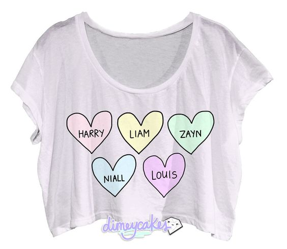 Bubblegum One Direction Crop Top OMG!!! I WANT!!!!!!