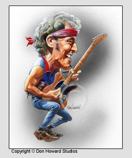 Don Howard's Depiction of Bruce Springsteen Celebrity Caricature