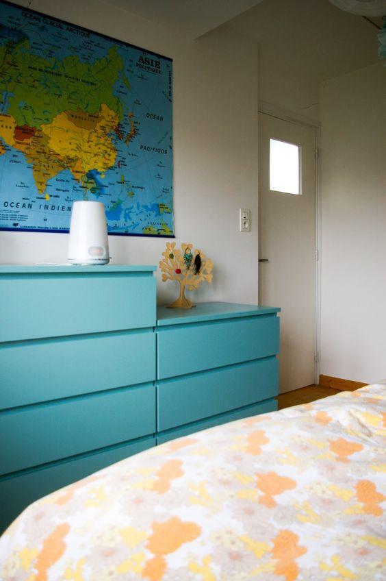 ikea malm repeint  peindre meuble ikea  Tangerinette