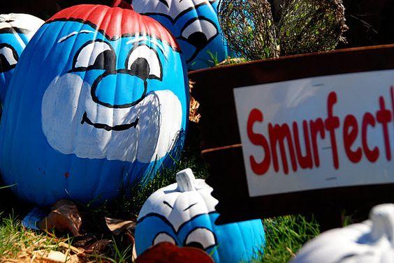 Smurf pumpkins