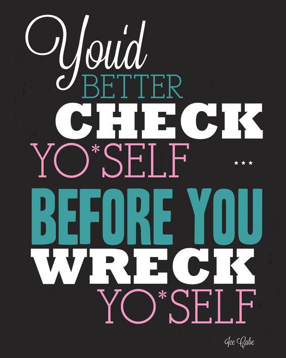 Check Yo Self Customizable by fivethree on Etsy, $20.00