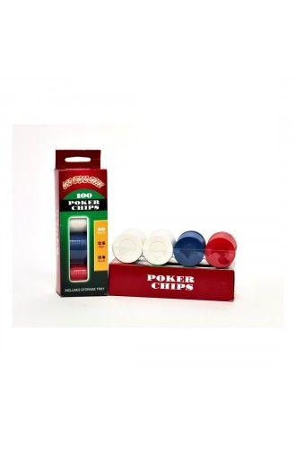 Plastic Coloured Casino Poker Chips - Las Vegas Party Decoration Ideas