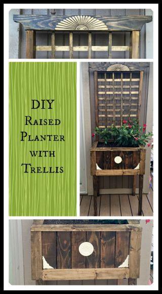 Raised Planter Trellis And Planters On Pinterest 640 x 480