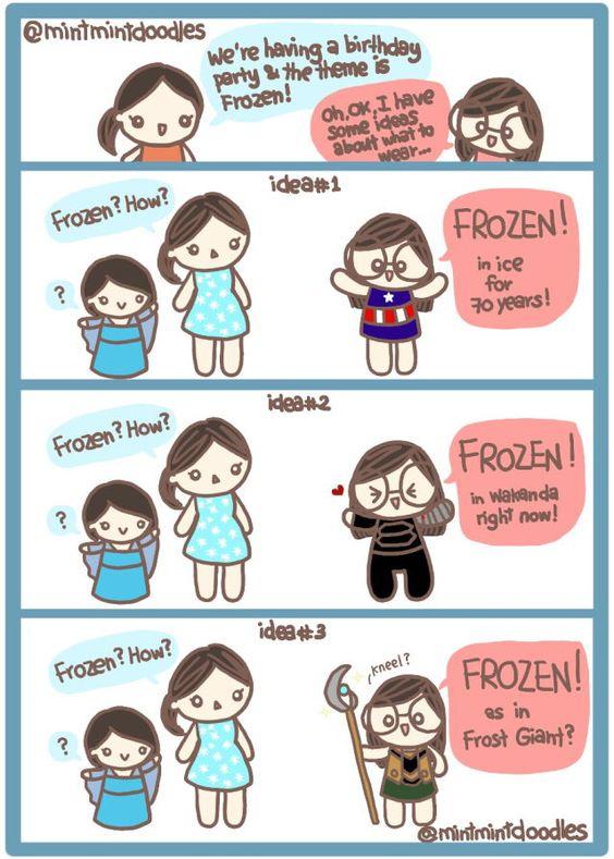 """Frozen"" #frozen #mintmintdoodles"