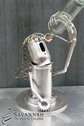 STC Scrap Sculptures 2013 - The Drinking Lady