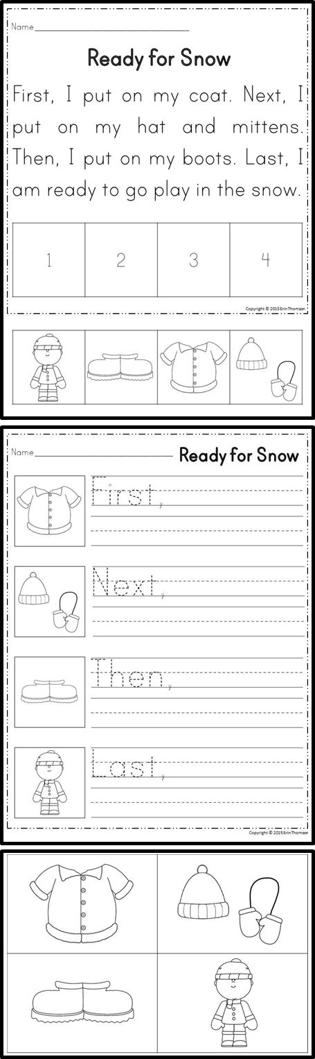 Sequencing Stories ~ First, Next, Then, Last {Set 1} | The Words ...Students will sequence stories using the words first, next, then, and last.