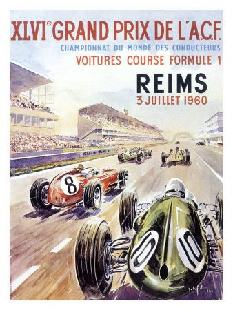 1960 grand prix de l ace poster car racing posters pinterest grand prix poster and french. Black Bedroom Furniture Sets. Home Design Ideas