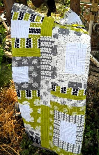 Contemporary Spring Quilt  Baby or Toddler by CherishedDreams, $141.00