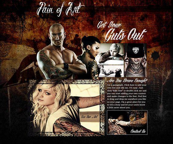 Tattoo Web Design | Some of My Web Design | Pinterest | Design ...