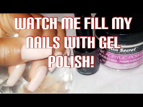 Diy Acrylic Nails Without Monomer Quick Easy Nail Fill At Home Dip Acrylic With Gel Polish Youtube In 2020 Diy Acrylic Nails Simple Nails Gel Polish