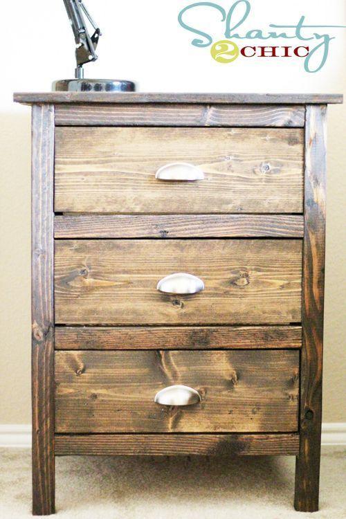 Reclaimed Wood Nightstands Diy Dresser Plans Reclaimed Wood Nightstand Dresser Plans