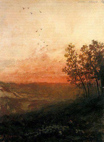Paesaggio al tramonto  Odilon Redon