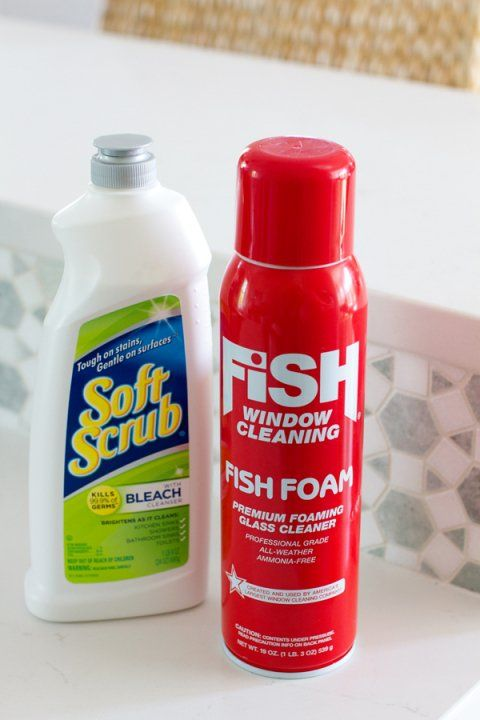 Fish Foam and Soft Scrub with Bleach | How To Clean White Quartz Countertops
