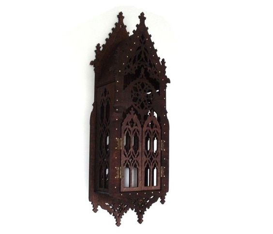 Gothic shelf cupboard medieval inspiration the oriel window medieval furniture (60.00 USD) by FolkTalesPl