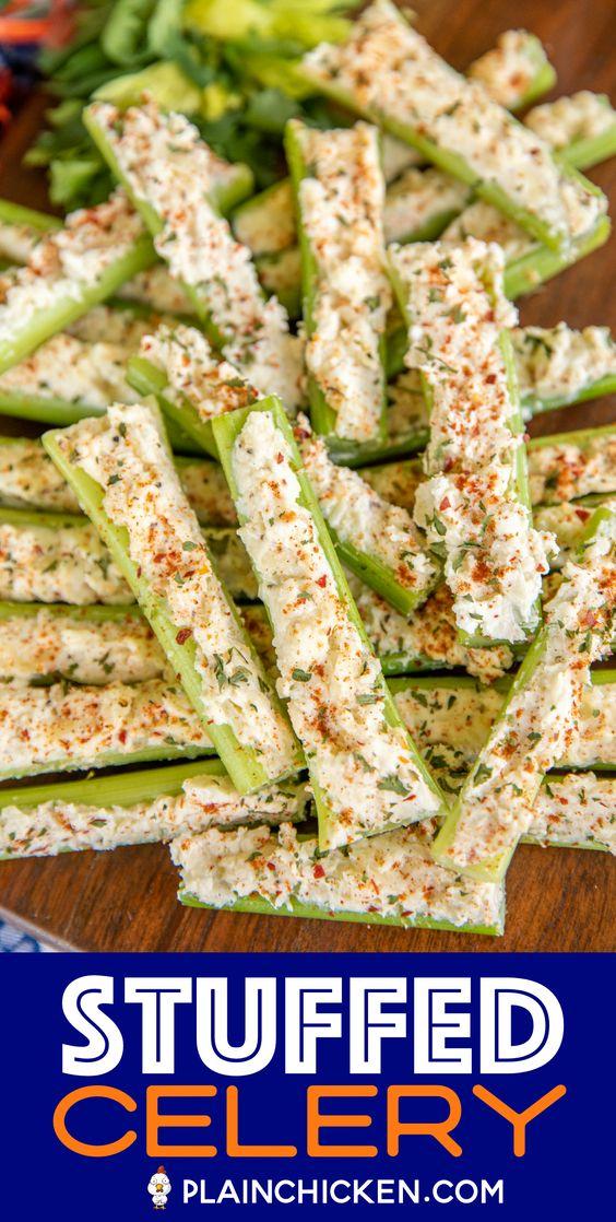 Italian Cream Cheese Stuffed Celery