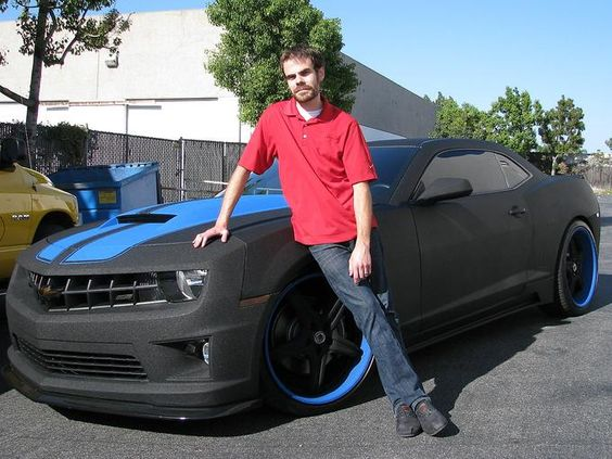I keep telling my husband this is what cars and trucks should be painted with!!!!!!!!Camaro painted with Spray In Bedliner Material by Line X