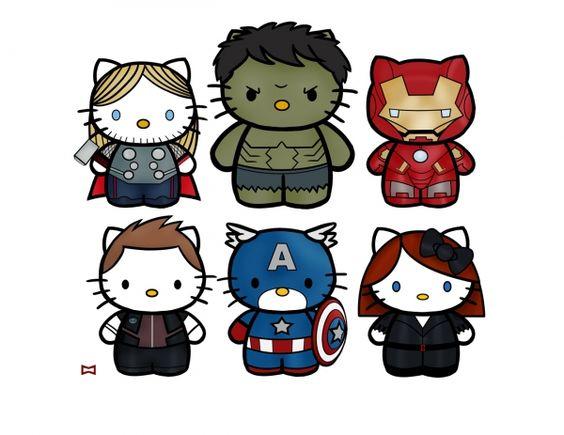 Super Vilains tremblez : voici les Hello Kitty Avengers !