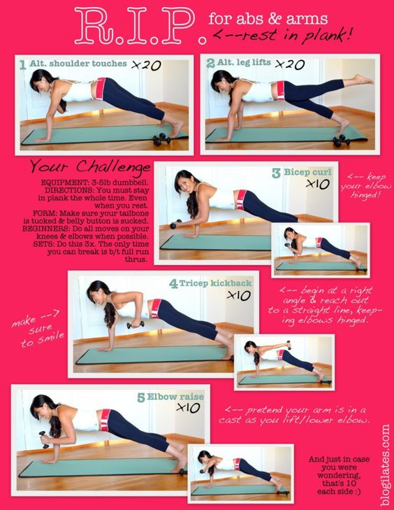RIP for abs and arms