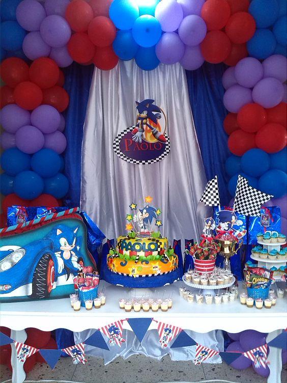 Fiesta de sonic mesa de dulces decoraciones pinterest - Decoracion mesa cumpleanos ...