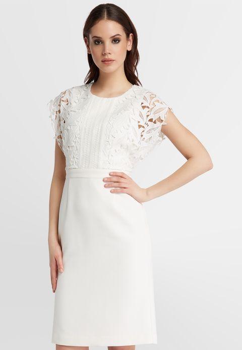 Apart Cocktailkleid Festliches Kleid White Zalando De Met Afbeeldingen Korte Trouwjurk Avondjurk Jurken