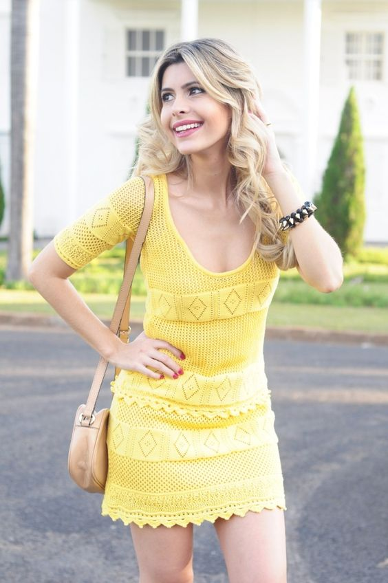 Look – Vestido Amarelo