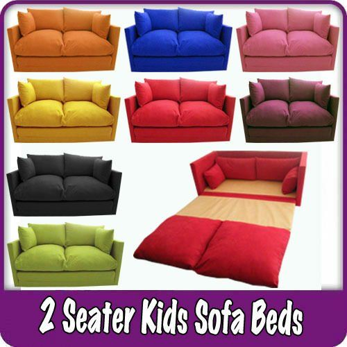 Kids Childrens Sofa Fold Out Bed Boys Girls Seating Seat