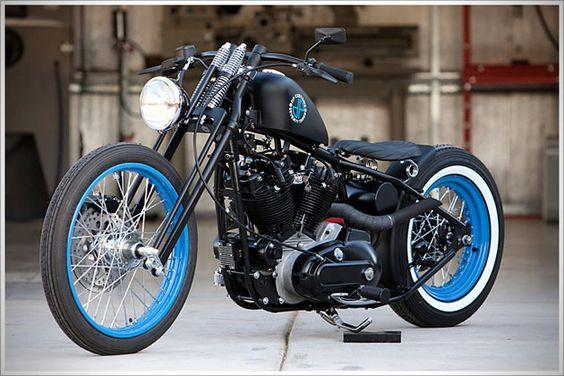 Custom Harley Ironhead Bike