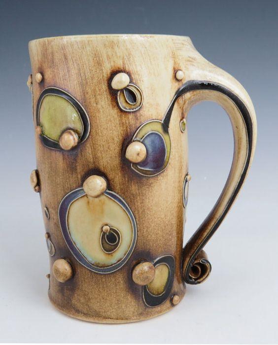 Circles Mug Etsy Mugs Pottery Cups Clay Mugs