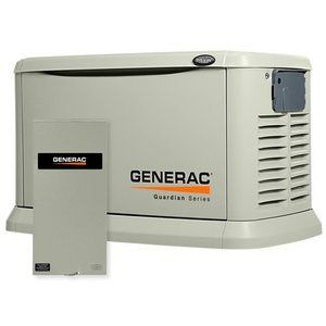 Generac 6729 Guardian Series, 20kW Air Cooled Standby Generator, Natural Gas/Liquid Propane Powered, Steel Enclosed, with 200-Amp Service Rated Switch | price: 4457.00 $ | Generac Guardian - Model 6729 - 20,000-Watt Air Cooled Automatic Standby Generator with 200-Amp Service Entrance Rated Transfer Switch. ...