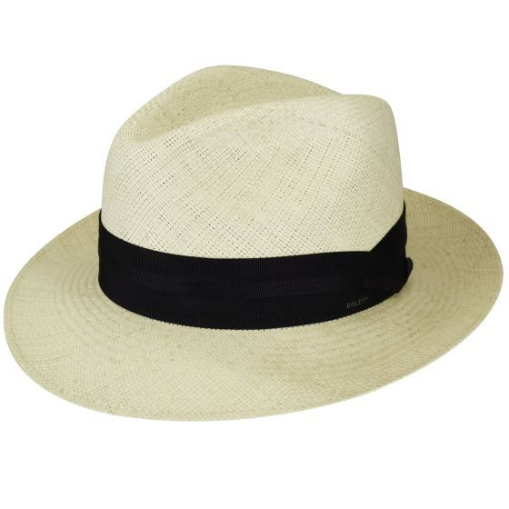 Snap Brim Panama Style Fedora Hat with Black Band Straw Summer Sun Hat
