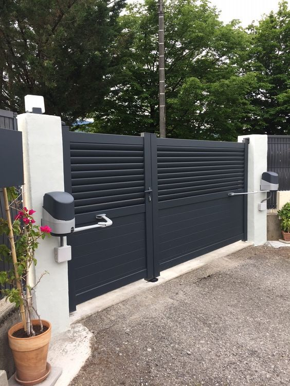 Zabor Avtomaticheskij Zabor Ograzhdenie Front Gate Design House Gate Design Home Gate Design