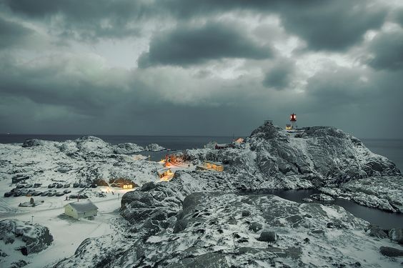 Winter Night by Tore Heggelund