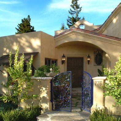Mediterranean home mansard roof design pictures remodel for Courtyard renovation ideas
