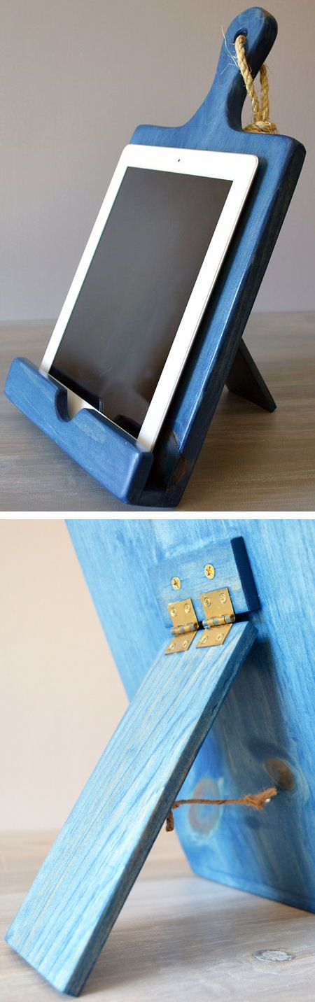 Cutting Board Cookbook Holder + iPad // Android Stand ♥: