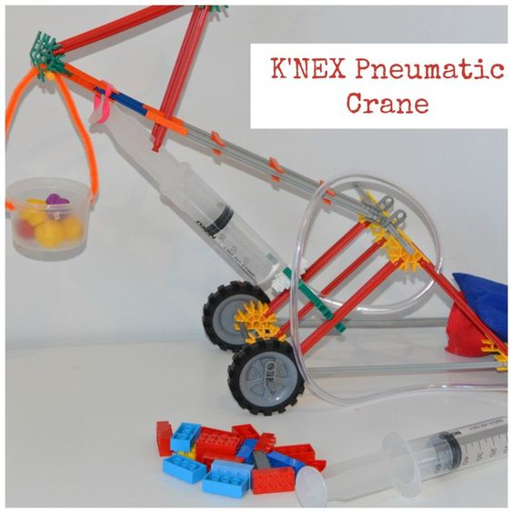 Principle Of Hydraulic Crane Project : Pneumatic k nex crane science projects and engineering