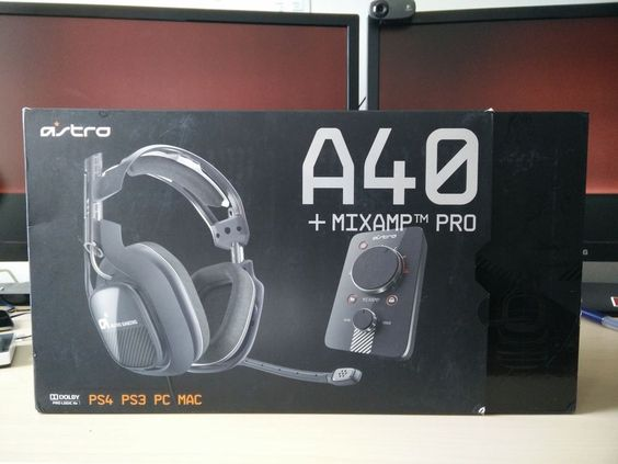 ASTRO Gaming A40 - Dark Grey w/ MixAmp Pro - PS4 2014 Edition
