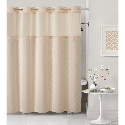 Hookless Mosaic Single Shower Curtain Color Pale Pink Hookless Shower Curtain Curtains Shower Curtains Walmart