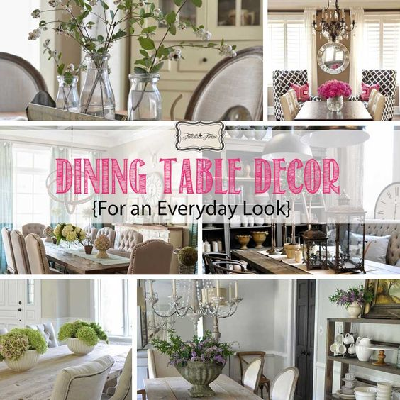 Dining table decor for an everyday look dining room for Everyday dining room centerpieces