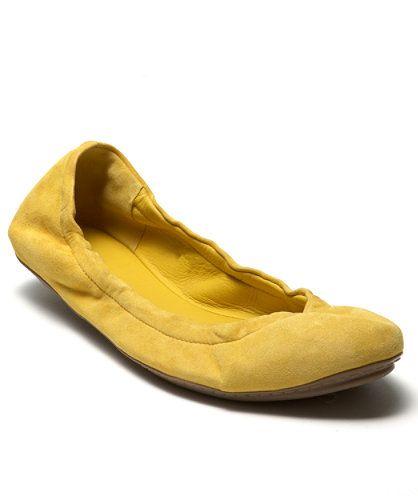 L.L.Bean Signature Ballet Flat in Golden Saffron, $99.