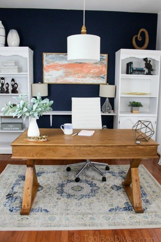 Home Office Makeover On A Budget Toolbox Divas Trendy Home