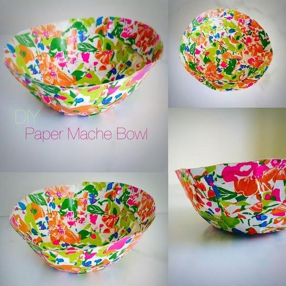 Paper mache bowl crafts a bowl and paper for Paper crafts for adults