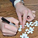 An Inviting Home: Organization & Decor Tips Galore. Shown: Puzzle organization.
